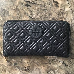 Quilted Leather Tory Burch Wallet